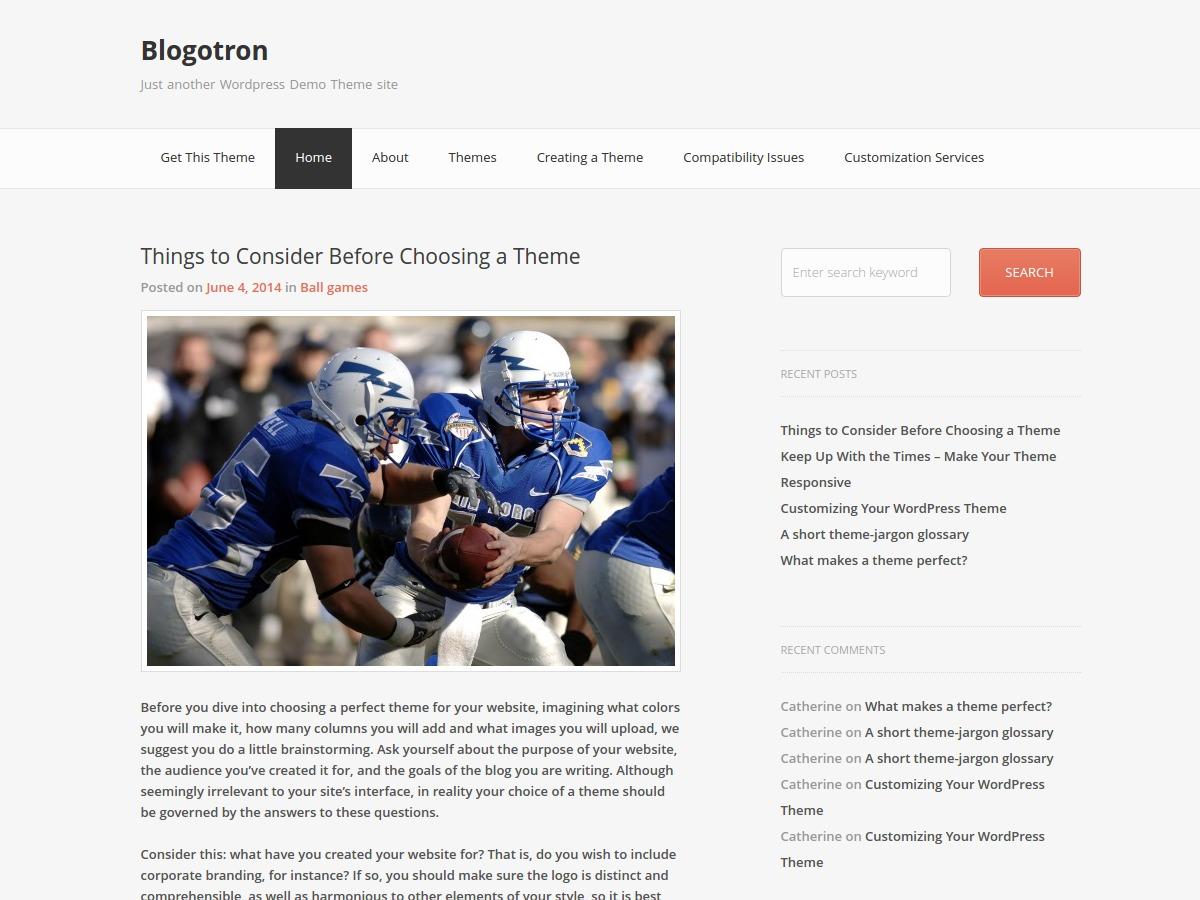 Blogotron free WordPress theme