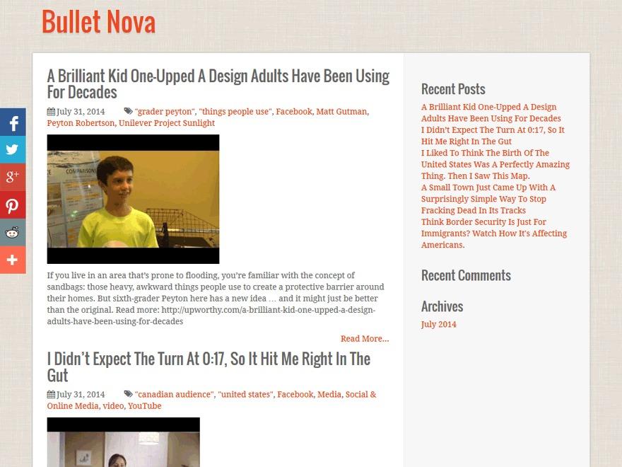BulletNova WordPress website template