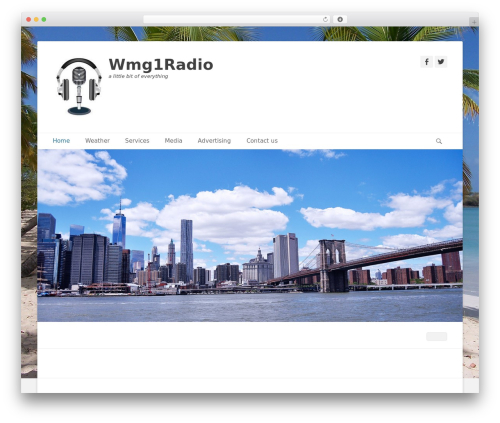 Catch Base Pro top WordPress theme - wmg1radio.com