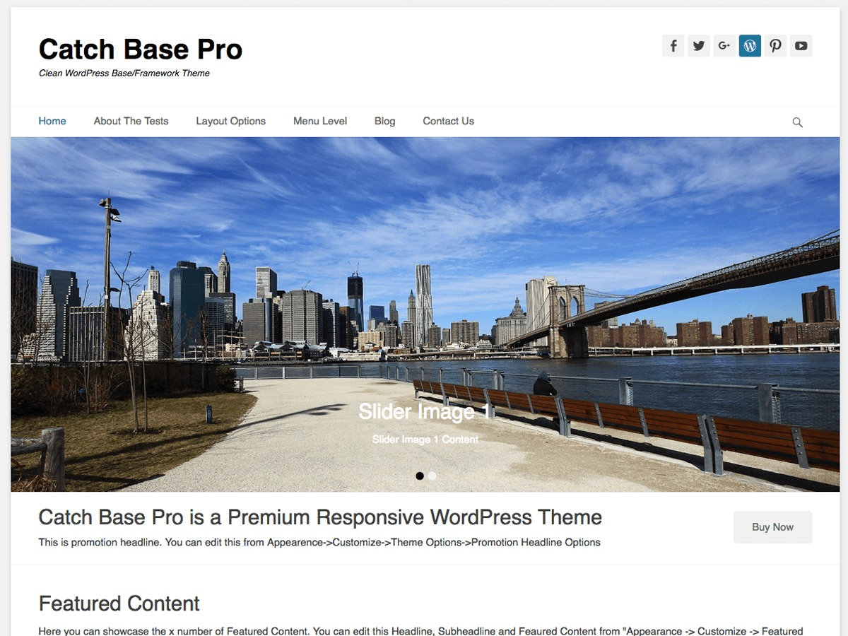 Catch Base Pro WordPress page template