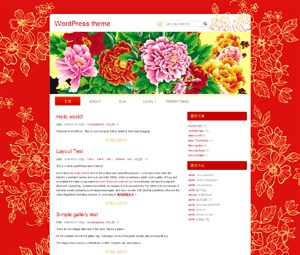 China Red WP template