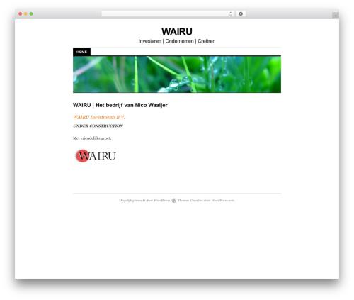 Coraline WordPress theme - wairu.nl