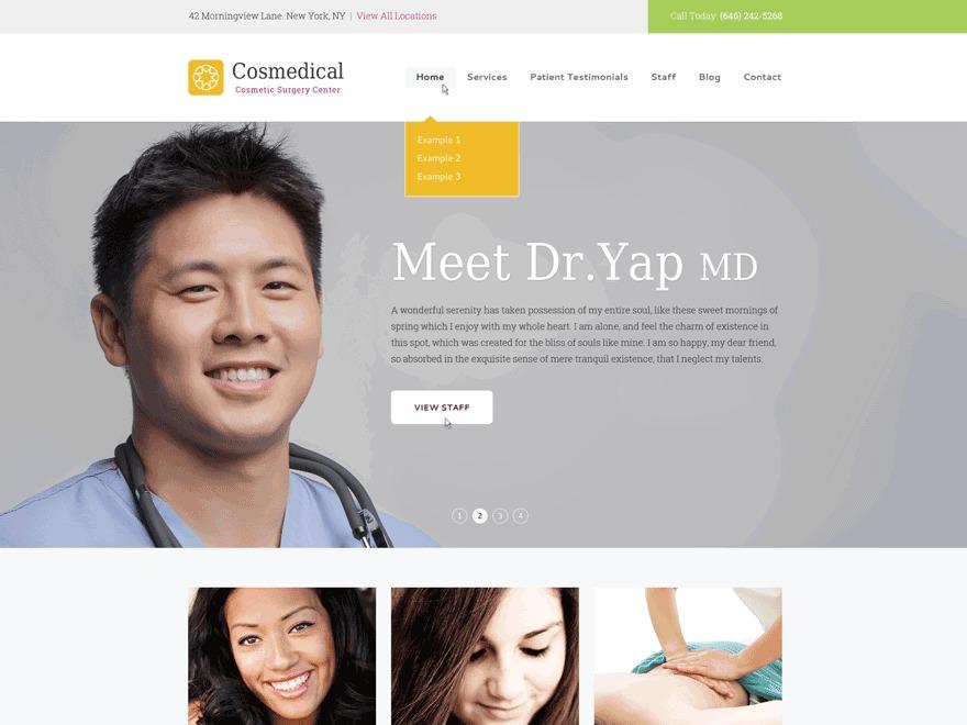 Cosmedical Progression medical WordPress theme