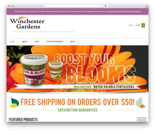 Crux WordPress template for business - wgardens.com
