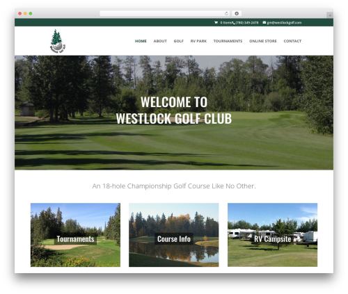 Divi best WordPress theme - westlockgolf.com