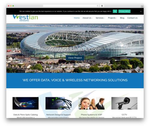 Divi WordPress movie theme - westlan.ie