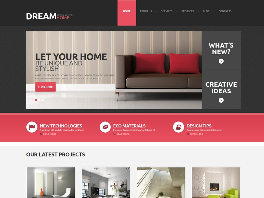 dream_home WordPress template
