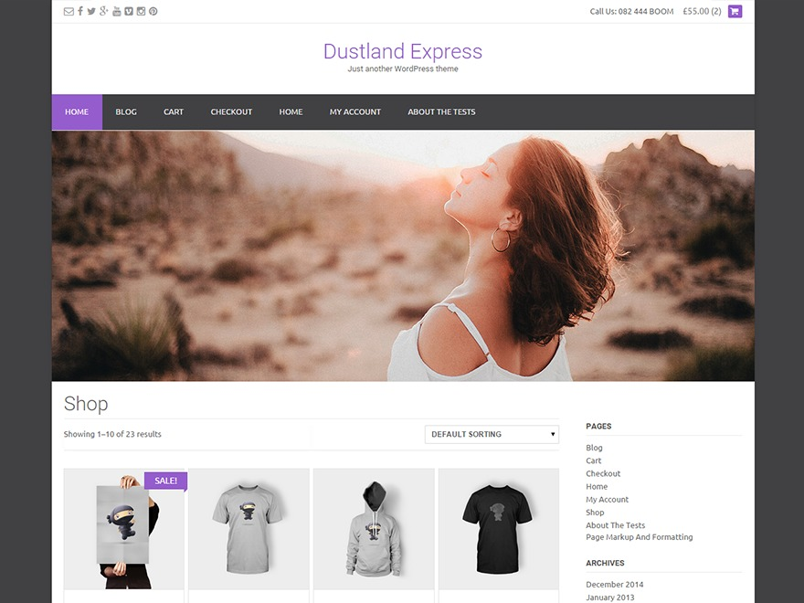 Dustland Express Premium WordPress ecommerce template