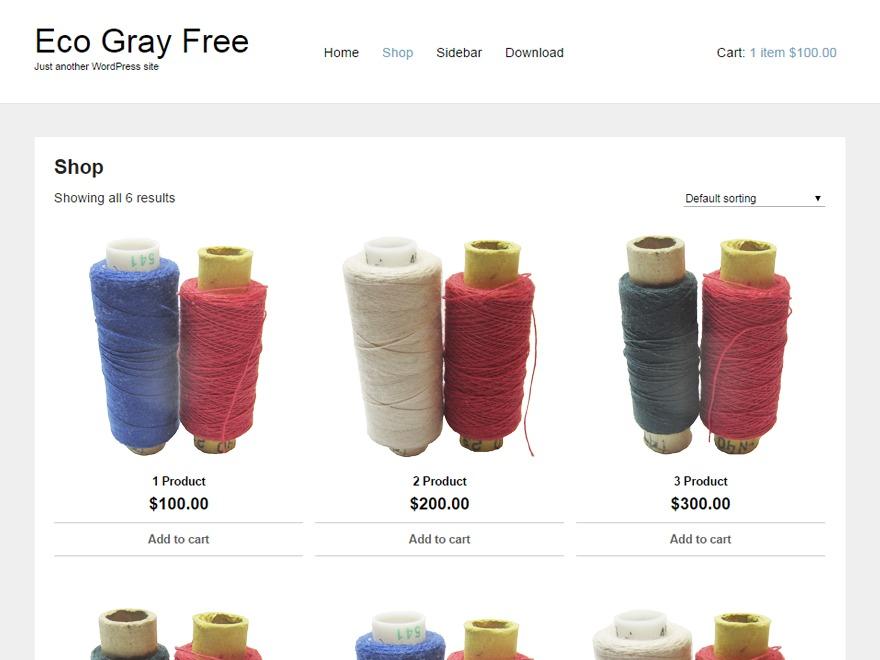 Eco Gray WordPress shopping theme