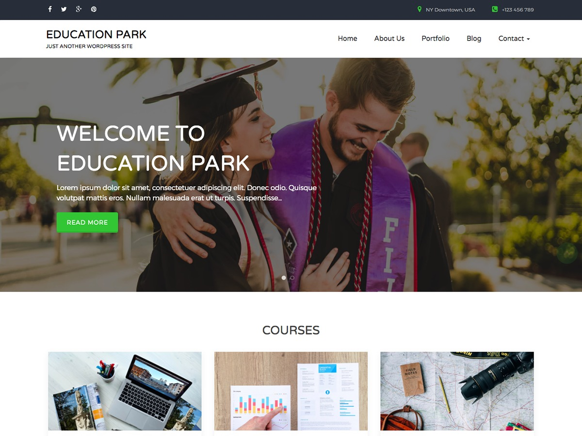 Education Park WordPress free download