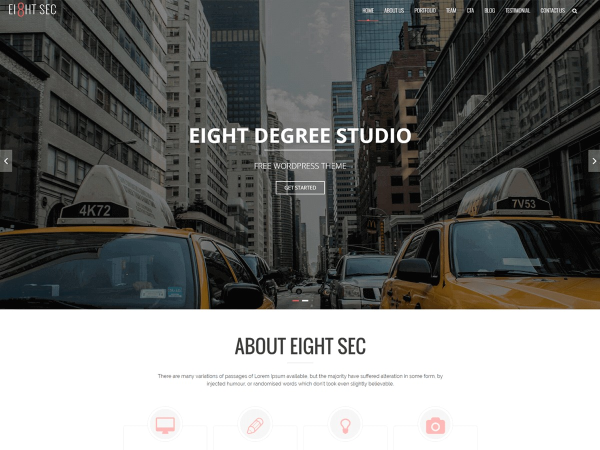 Eight Sec template WordPress free