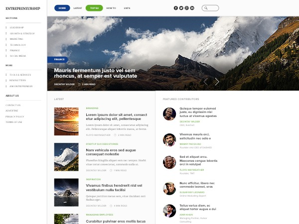 Entrepreneurship by MyThemeShop WordPress blog template