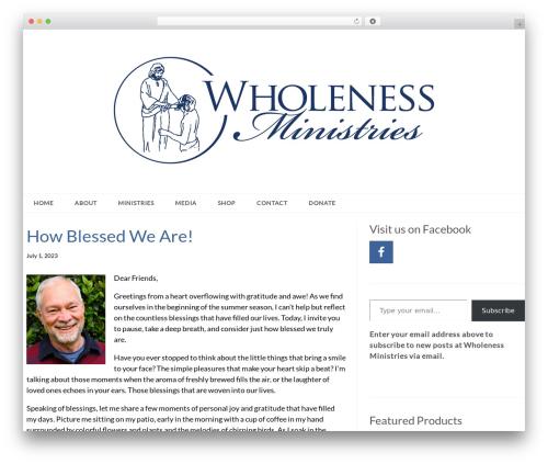 Epic theme WordPress - wholeness.org