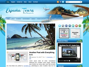 EspaniaTour WordPress blog template