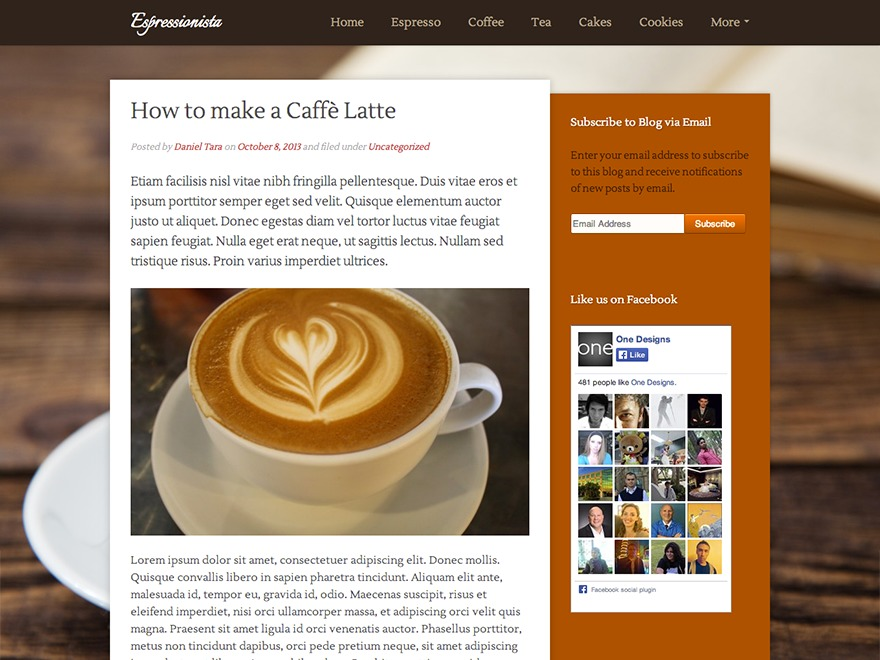 Espressionista WordPress blog template