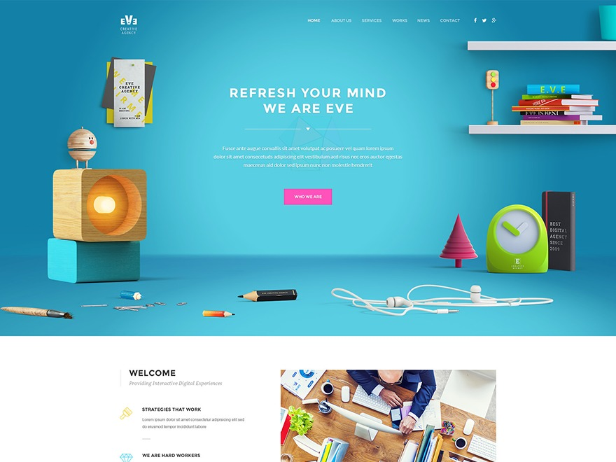 Eve WordPress template