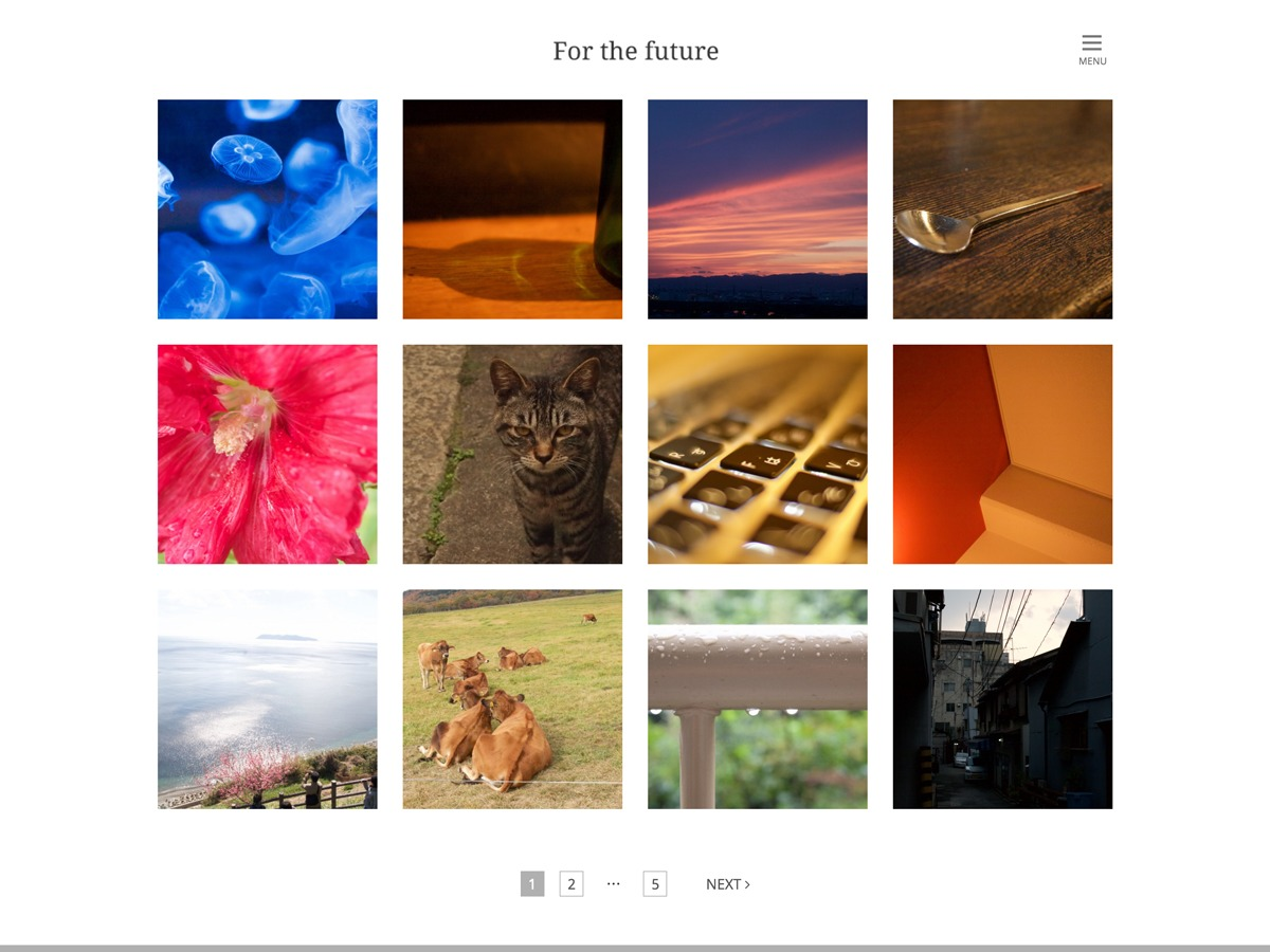 For the future free website theme