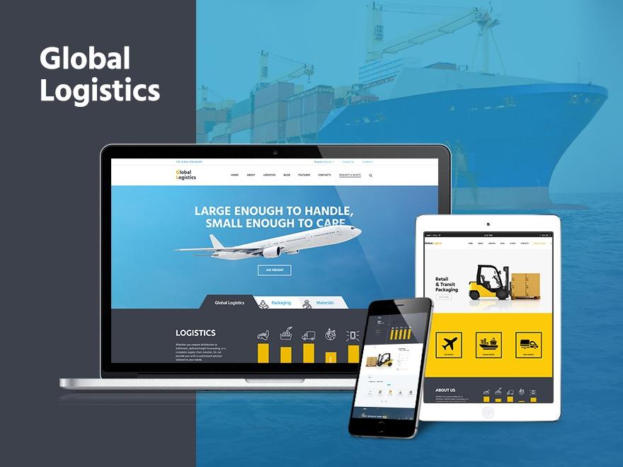 Global Logistics WordPress theme