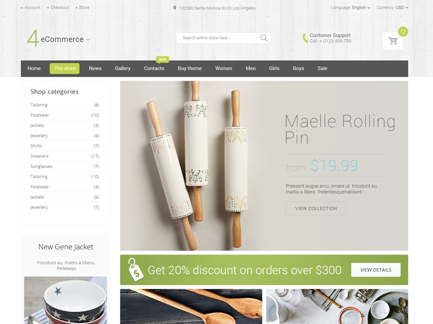 HandyStore Theme WordPress ecommerce theme