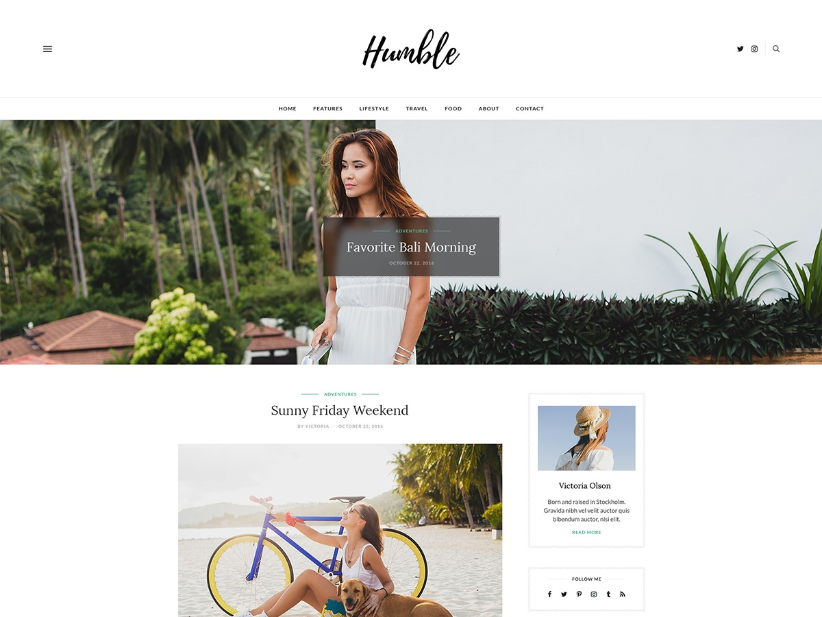 Humble WordPress website template