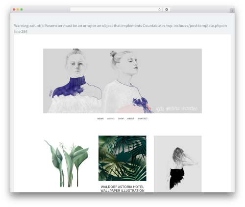 Illustratr WordPress theme - wierzbickaillustration.com
