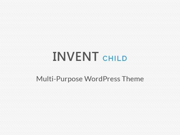 Invent Child WordPress theme