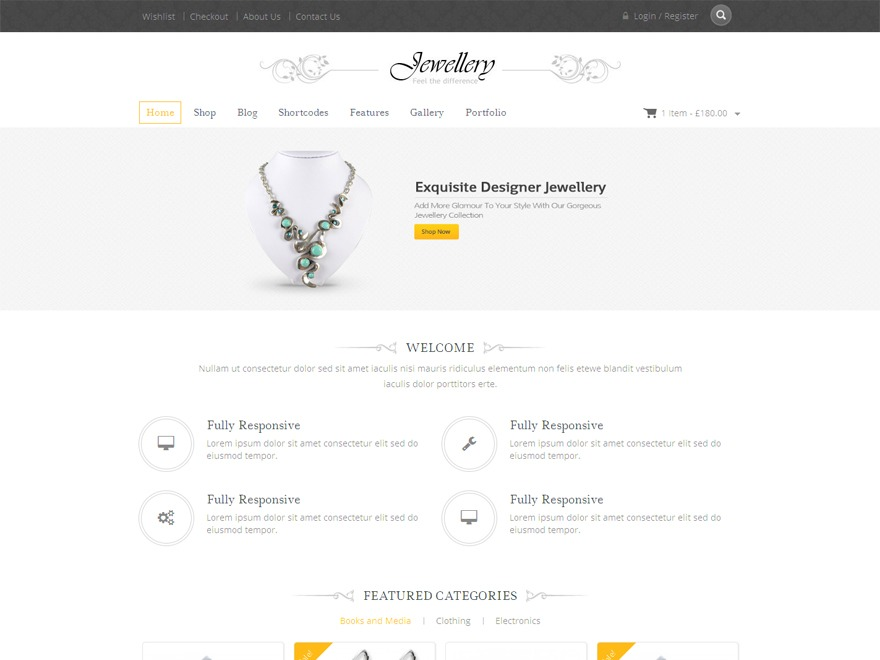 Jewellery WordPress news template