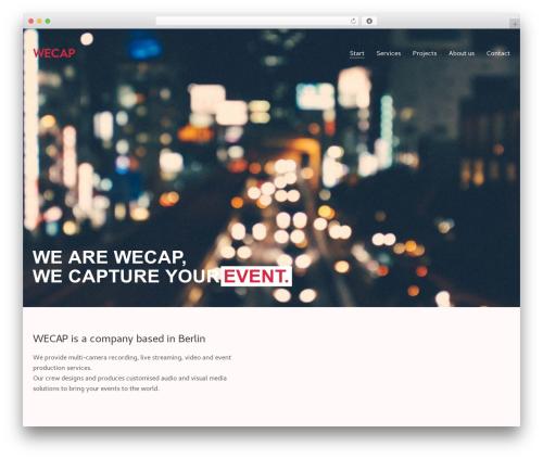 Kalium WordPress portfolio template - wecap.de