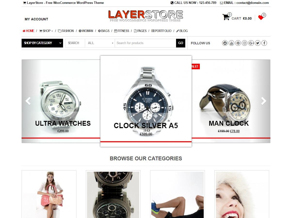 LayerStore WordPress ecommerce template