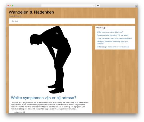 LineDay theme WordPress free - wandelenboerenland.nl