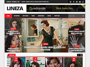 Lineza best WordPress magazine theme