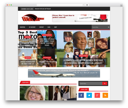 Lineza best WordPress template - wavuli.com