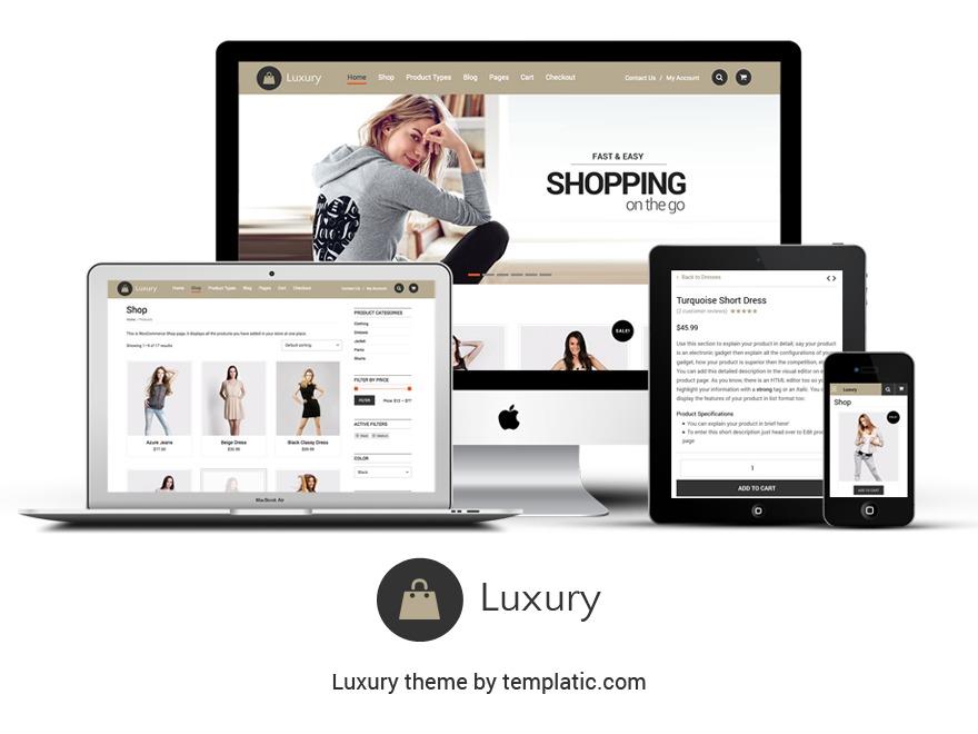 Luxury-Theme WordPress store theme