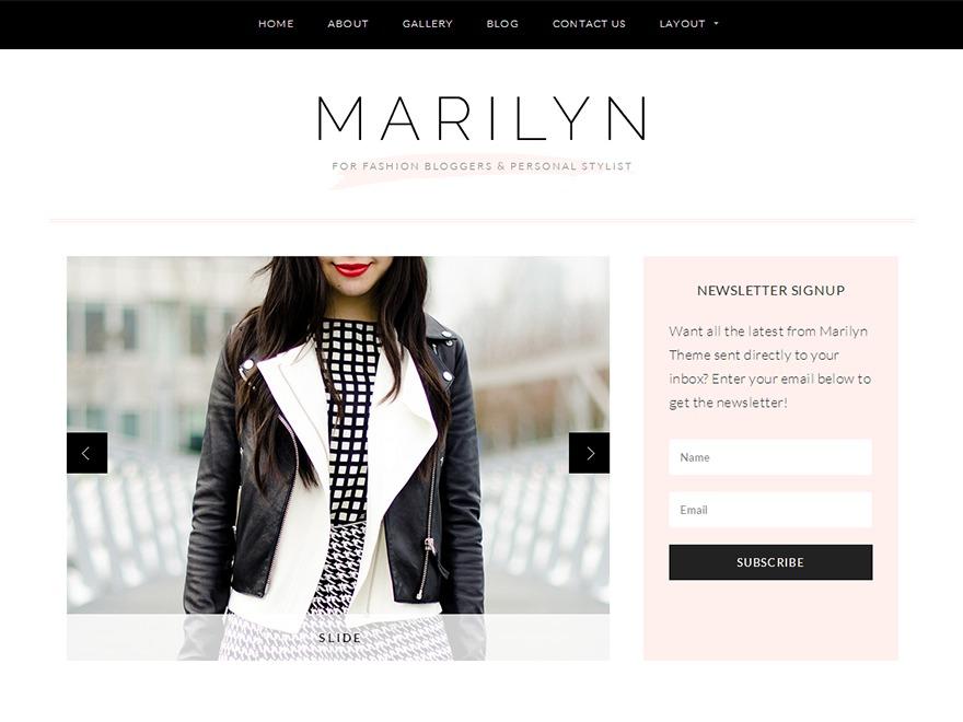 Marilyn WordPress website template