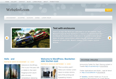 Marina best WordPress template