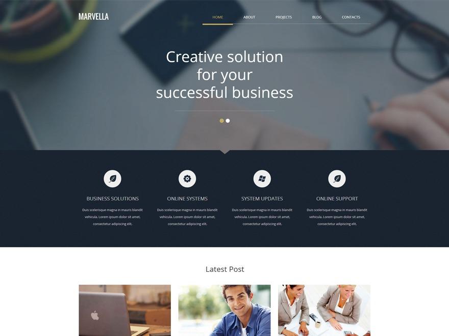 Marvella business WordPress theme