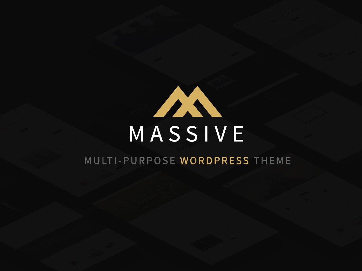 Massive WordPress theme