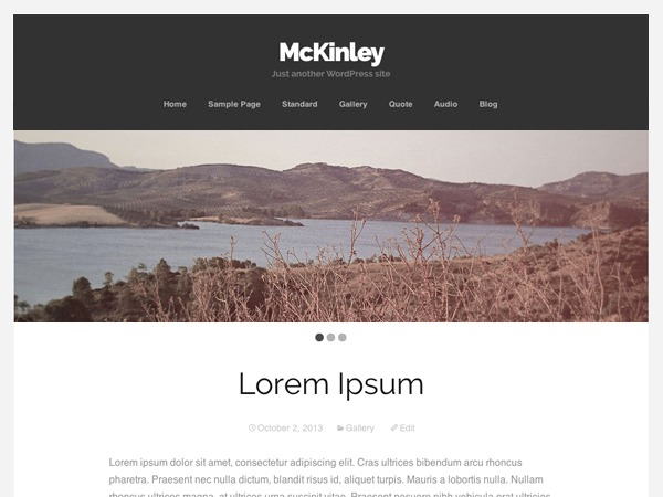 McKinley Child WordPress blog template