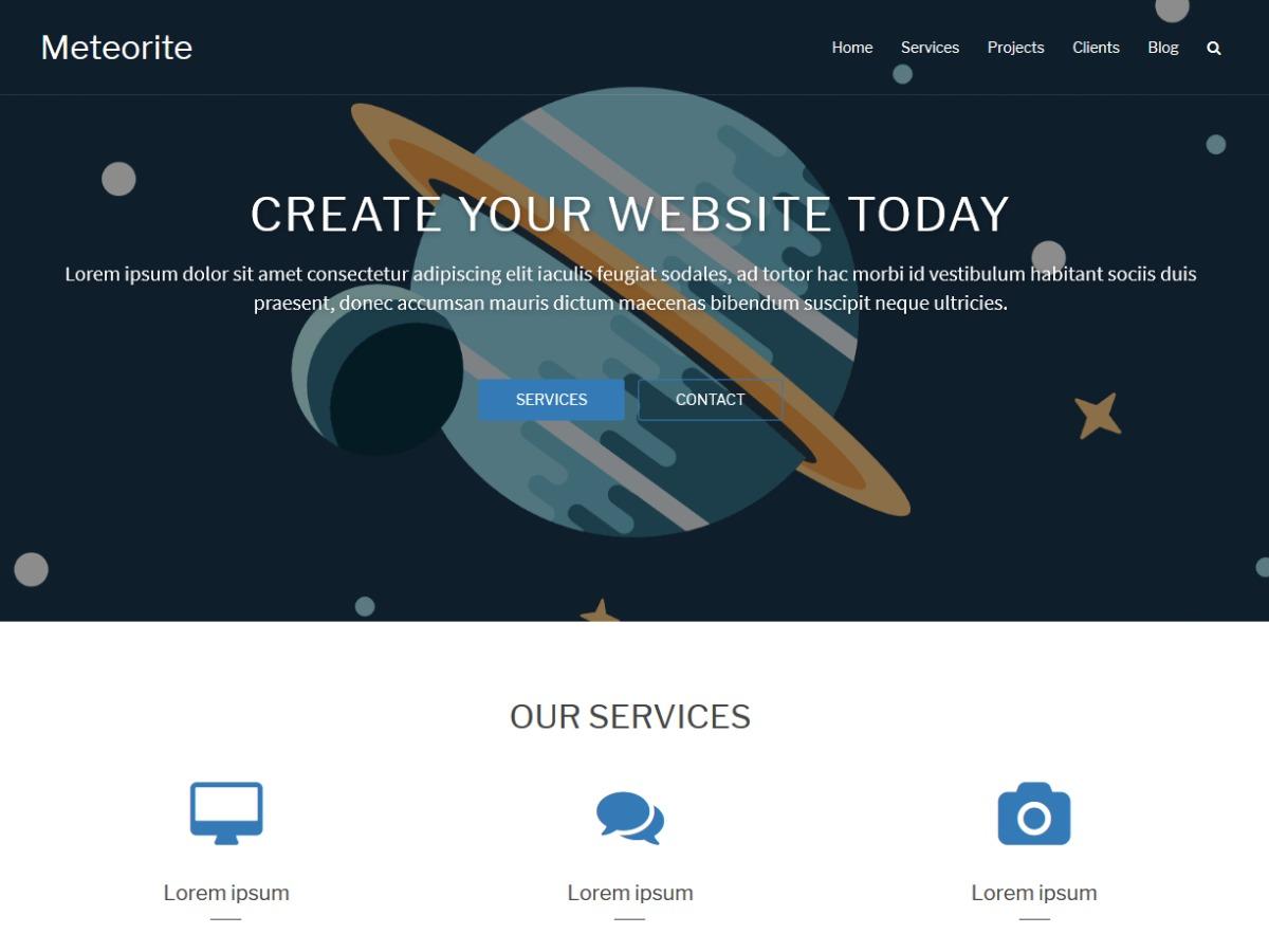 Meteorite WordPress template for photographers