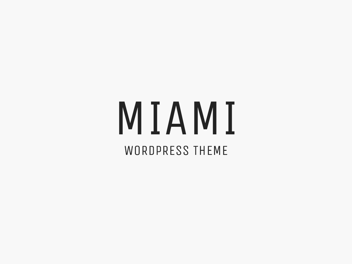 Miami WordPress blog template