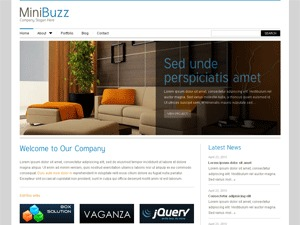 MiniBuzz3 WordPress template for business