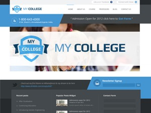 My College theme WordPress