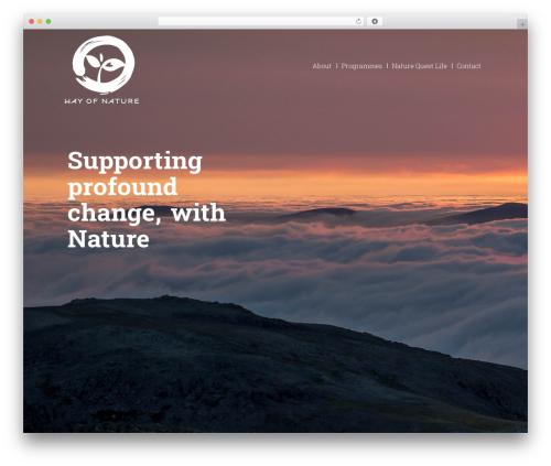 Nature theme WordPress - wayofnature.co.uk