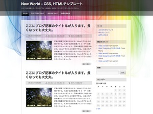 New World WordPress theme