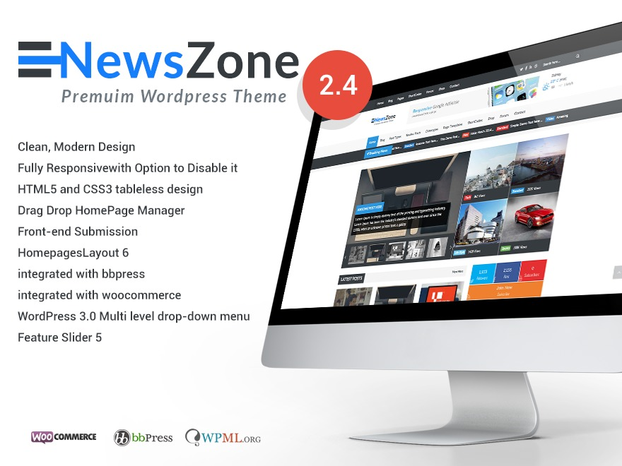 NewsZone WordPress news template