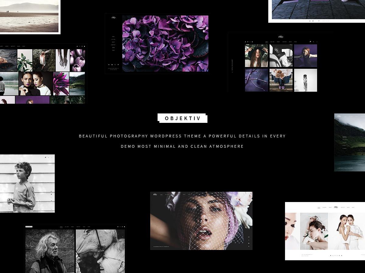 Objektiv wallpapers WordPress theme