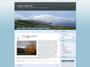 Ocean Mist theme WordPress