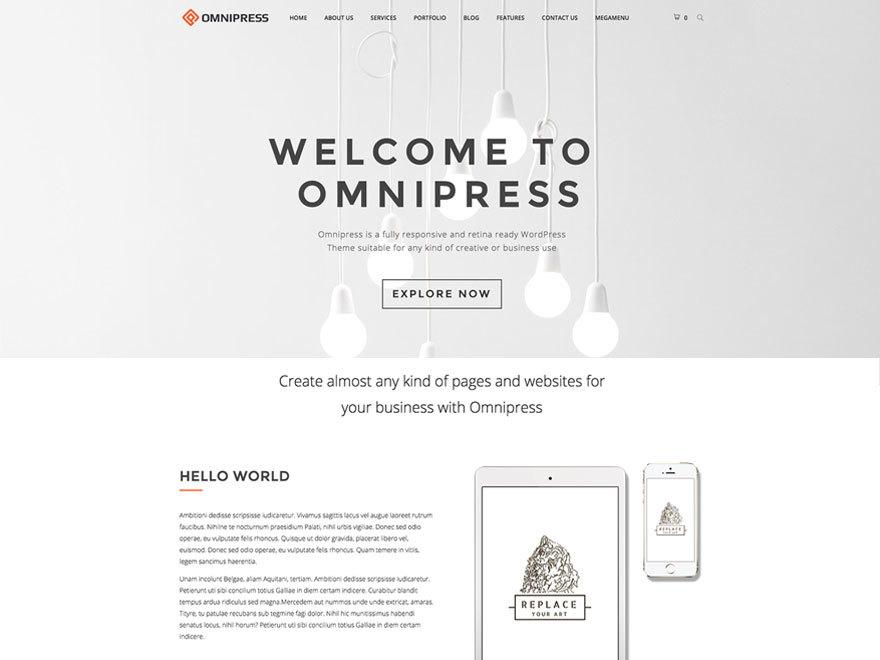 Omnipress best WordPress theme