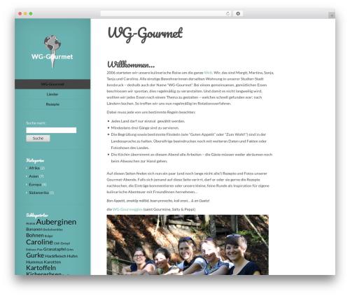Origin best free WordPress theme - wg-gourmet.at