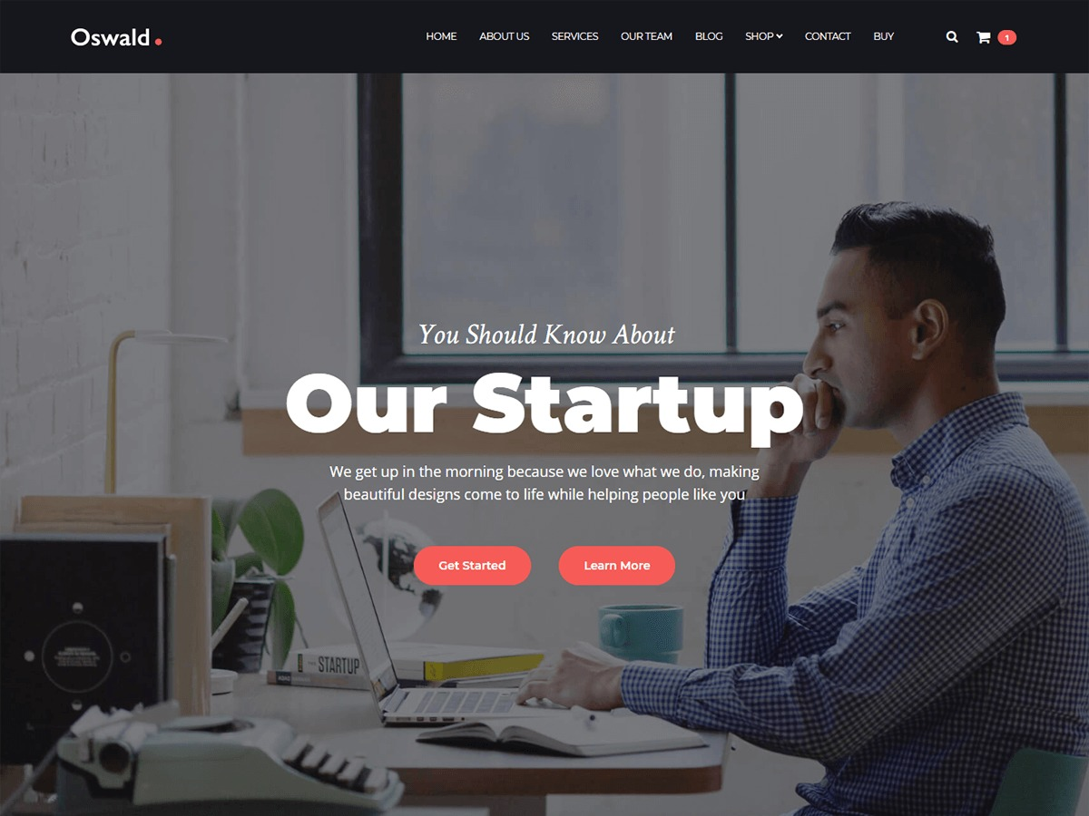 Oswald WordPress theme